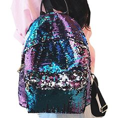 New Trending Luggage: Bling Sequins Paillette Backpack Purse Casual Daypacks Handbags for Girls Women From Mily (Blue). Bling Sequins Paillette Backpack Purse Casual Daypacks Handbags for Girls Women From Mily (Blue)  Special Offer: $29.99  344 Reviews Main Feature : Made of PU leather and Poly-cotton, decorated with sequins, very durable, delicate and sturdy, holds its shape Design features: ...