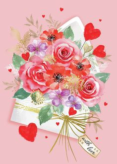 Leading Illustration & Publishing Agency based in London, New York & Marbella. Birthday Wishes Flowers, Happy Birthday Flower, Happy 2nd Birthday, Happy Birthday Greetings Friends, Happy Birthday Messages, Happy Birthday Images, Valentine Crafts, Valentines, Happpy Birthday