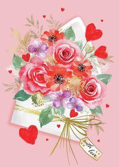 Leading Illustration & Publishing Agency based in London, New York & Marbella. Birthday Wishes Flowers, Happy Birthday Flower, Happy 2nd Birthday, Happy Birthday Greetings Friends, Happy Birthday Messages, Happy Birthday Images, Valentine Crafts, Valentines, Happpy Birthday