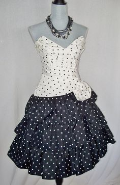 Polka Dot 80s Dress