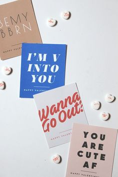 Valentine's Day DIY ideas can be cheesy, but nothing on this list fits that bill - check out 21 Valentine's Day DIY ideas that don't suck on Paper & Stitch. day printables 21 Valentine's Day DIY Ideas that Don't Suck Banner Design, Layout Design, Web Design, Design Poster, Print Design, Lettering, Typography Design, Packaging Design, Branding Design