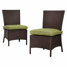 Thornquist 2-Piece Wicker Patio Armless Dining Chair Set   {Target, online only}
