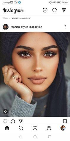 Cosmetics Plus, Beauty Makeup, Hair Makeup, Natural Prom Makeup, Elegant Makeup, Most Beautiful Eyes, Beautiful Women Pictures, Brunette Beauty, Girls Makeup