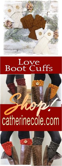 Boot cuffs for Fall! Love boot cuffs? Of course you do, and we have a fun selection of boot toppers and cuffs. Boot cuffs make any Fall outfit look great!