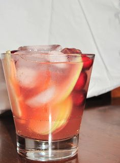 Holiday cocktail! Apple cider, vodka, cranberry juice, and ginger ale. Delicious and definitely want to make this again! Great with slices of apple and fresh cranberries