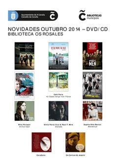 Cine y música disponibles en la Biblioteca Os Rosales.