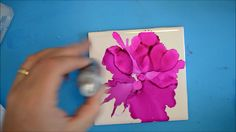 54. Air Brush with Alcohol Ink on Tile
