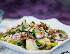 Салат со шпинатом, грушей и голубым сыром | Официальный сайт кулинарных рецептов Юлии Высоцкой