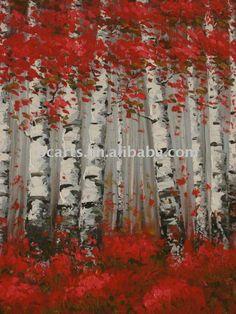 L'arbre abstrait peinture à l'huile décorative de haute qualité de bouleau. thème décoration murale art peinture, photo encadrée d'épaisseur. mécanisme-Peinture et calligraphie-Id du produit:465180009-french.alibaba.com