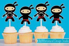 Ninja Karate Die Cut Cupcake Topper (One Dozen)