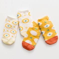 Moomy,how many circles are there! Funny Baby Socks