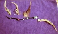 $14.99 Handmade by me,  my very first Hair extnsion on a clip with beads ,  what makes this Feather extension Unique is that i used clear wiring to secure each feather to the Black Suede cord....this gives the illusion of floating feathers and is re...