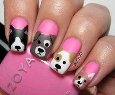 Pink Doggy Nails Nails Pink Nails Nail Art Nail Ideas Nail Art Nail Pictures Doggy Nails Source by b Dog Nail Art, Nail Art For Kids, Animal Nail Art, Dog Nails, Cute Nail Art, Easy Nail Art, Cute Simple Nails, Cute Nails, Pretty Nails