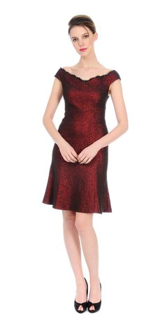 8569bbcbc Kay Unger Ruby Red Shimmer Dress  490 https   www.zindigoboutique.com