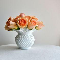 Fenton Hobnail Milk Glass Vase