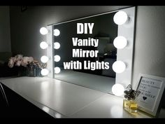 DIY VANITY MIRROR WITH LIGHTS [UNDER $100!!!] || SimplySandra - YouTube