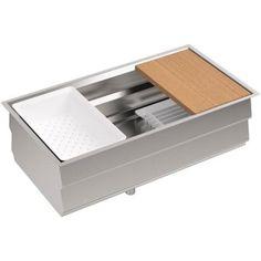 $825.00 Home Depot KOHLER Prolific Undermount Stainless Steel 33 in. 0-Hole Single Bowl Kitchen Sink