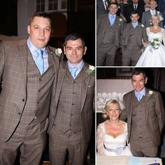 Congratulations to the lovely Rachel & Jason Blinkho on their wedding! Jason & Mark both looked tremendously dapper in their tan & blue checked suits.   #suit #tan #jacket #wedding #marriage #happy #cute #march #client #fun #you #bespoke #professional #model #event #manchester #alderleyedge #england #uk #cheshire #london  #luxury #usa #dream #personal #dapper #gentleman #design #shirt #houston