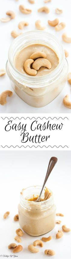 The easiest and tastiest homemade cashew butter!