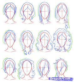 How to Draw Female Figures, Draw Female Bodies, Step by Step, Anime Females, Anime, Draw Japanese Anime, Draw Manga, FREE Online Drawing Tut...