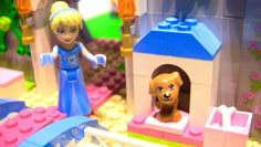 Cinderella invites you to see her castle and meet Prince Charming! This is a Lego Disney Princess set: Cinderella's Romantic Castle 41055 with 646 pieces. Cinderella Invitations, Enchanted Castle, Disney Princess Cinderella, Ice Castles, Lego Toys, Stop Motion, Kids Toys, Aurora Sleeping Beauty, Romantic