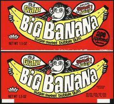 Big Banana Bubble Gum (1974, Fleer)