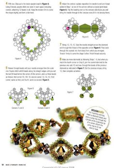 "Photo from album ""Разные схемы"" on Yandex. Beaded Braclets, Beaded Bracelet Patterns, Seed Bead Bracelets, Jewelry Patterns, Beading Patterns, Beading Techniques, Beading Tutorials, Magazine Beads, Beaded Jewelry Designs"