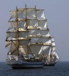 Feu d'Artifice de vieux Gréements pour l'Armada 2008 à Rouen - Le Mague, la…