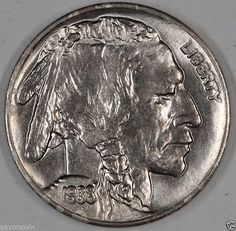 1938 D 5c Buffalo Nickel GEM BU