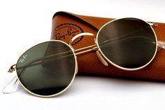 Óculos De Sol Retrô Rayban Redondo Original Ray Ban - R$ 249,90 no MercadoLivre