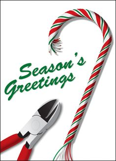 Add a twist this holiday season and get the Electrician Christmas Card for your valued customers.