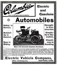 Vintage Columbia Motor Car Company Ad Touring Car 1910