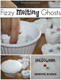 Fizzy Ghosts Baking Soda Science  Sensory Activity