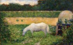 Landscape with Horse - Georges Seurat - The Athenaeum