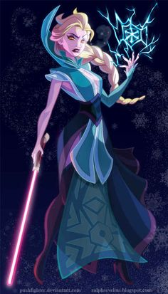 Comedy/what-if-disney- princesses-were-recast-star-wars-characters.Elsa might not be an evil Snow Queen, but she makes a killer Sith Inquisitor. By Ralph Sevelius Walt Disney, Kida Disney, Princesas Disney, Disney Love, Disney Magic, Disney Frozen, Elsa Frozen, Elsa Hot, Punk Disney