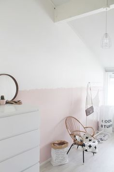 Two Tone Walls Adding Height & Space ~ Stace King Two Tone Walls, Home And Deco, Little Girl Rooms, New Room, Kids Decor, Girls Bedroom, Interior Inspiration, Nursery Inspiration, Crib