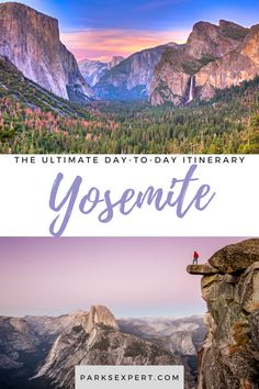 Not sure how much time to spend in Yosemite? We get it, so we've broken down this Yosemite itinerary day by day: one, two, three, four, or five days in Yosemite | Yosemite itinerary | Yosemite national park itinerary Yosemite Falls, Usa Travel, Travel Tips, Yosemite National Park, National Parks, Mist Trail, Tuolumne Meadows, Day Hike