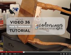 Video 36 How to Chalk Paint® WhiteWash: Step 1