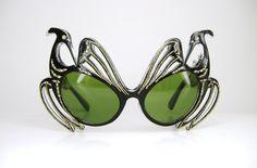 50′s Cat Eye Sunglasses with Green Lenses via Vintage50sEyewear on Etsy.
