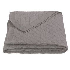 Delectably-Yours.com Grey Linen Quilt Blanket by HiEnd Accents