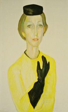 Portret van Lida Hoening, 1974, Paul Citroen