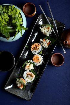 Crispy + Spicy Enoki Mushroom Roll