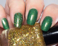 St. Patrick's Day Custom Handmade Nail Polish by PaintedSabotage, $18.50