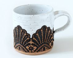 Handmade Moroccan Lace Mug in White. $35.00, via Etsy.