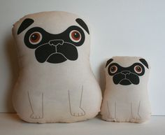 Tricky large fawn pug stuffed toy by mrwalters on Etsy - one for you, one for the little one.