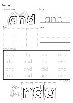 Sight Word Practice Pages $