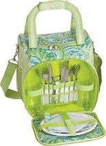 Insulated Fabric lunch bag beach cooler picnic basket carry strap office cold