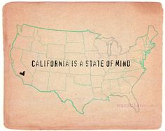 CA(The heart should be in the western center of the state, but I'll take it!