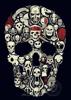 Skull by MateusCosme. #Skulls