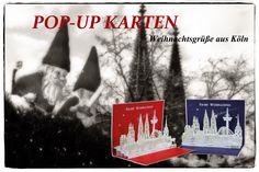Pop-Up #Weihnachtskarte der #KölnerSkyline  #popupkarte #colognecards #3DKarte #popupkarten